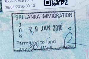 Visa pour entrer au Sri Lanka