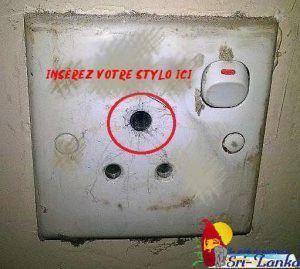 Astuce pour brancher sur une prise électrique Sri Lankaise